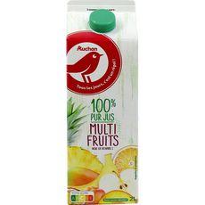 Auchan Pur jus multifruits brique de 2l