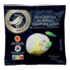 AUCHAN GOURMET Mozzarella di Bufala AOP 125g