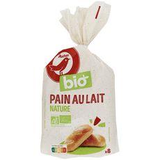 Auchan bio pain au lait x8 -280g