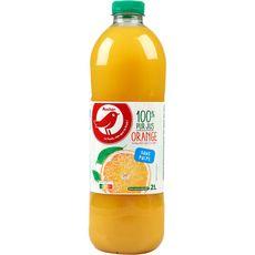 AUCHAN Pur jus d'orange sans pulpe 2l