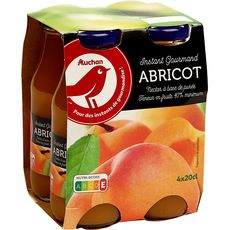 AUCHAN Nectar d'abricot bouteilles 4x20cl