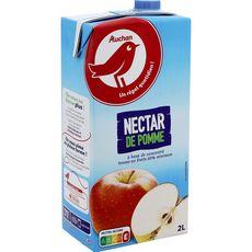 AUCHAN Nectar de pomme à base de concentré brique 2l