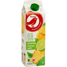 AUCHAN Auchan Jus d'ananas et citrons verts 1L 1L