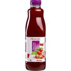 AUCHAN Nectar gourmand de fraise 1l
