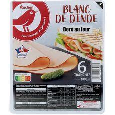 Auchan Blanc dinde 6 tranches 180g