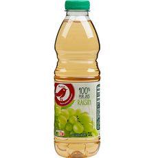 AUCHAN Pur jus de raisin blanc 1l