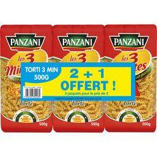 PANZANI Panzani torti cuisson rapide 2x500g +500g offert