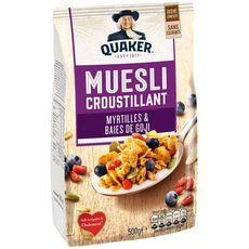 QUAKER Quaker Muesli croustillant myrtilles et baies de goji 500g 500g