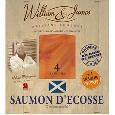 William James Saumon fumé d'Ecosse tranche x4+1 offerte 125g