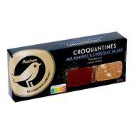 Gourmet Auchan Gourmet croquantine amandes et chocolat au lait 100g