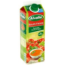 ALVALLE Soupe froide tomate menthe basilic 1l