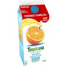 Tropicana pur jus d'orange sans pulpe 1,5l