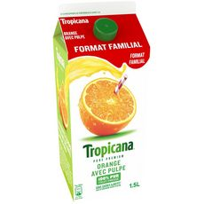 Tropicana jus d'orange avec pulpe 1,5l