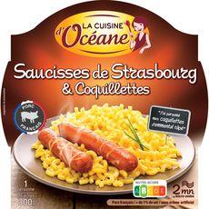 LA CUISINE D'OCEANE Cuisine d'Océane saucisse de Strasbourg coquillettes 300g