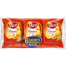 VICO La classique chips nature - sachets individuels lot de 6 6x27,5g