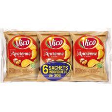 VICO Chips à l'ancienne au sel fin - sachets individuels lot de 6 6x30g