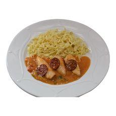 Aiguillettes de poulet chorizo et tagliatelles 300g