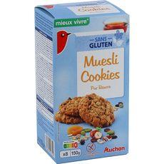 AUCHAN MIEUX VIVRE Muesli cookies sans gluten 150g