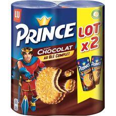 Prince Biscuits fourrés goût chocolat au blé complet Lot de 2 2x300g