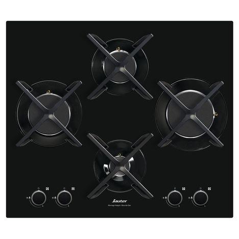 SAUTER Table de cuisson à gaz SPG4465B, 60 cm, 4 foyers