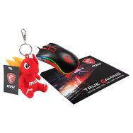 MSI Pack Souris Gaming + Tapis de souris + Figurine Dragon Msi
