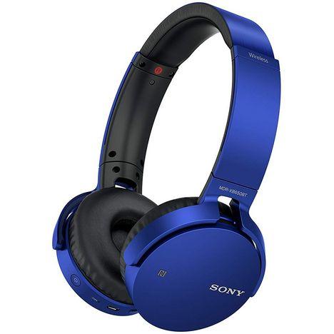 SONY Casque Bluetooth - Bleu - MDR-XB650BT