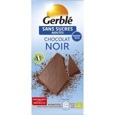 Gerblé sans sucre ajouté chocolat noir 80g