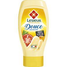 Lesieur Mayonnaise douce sans moutarde squeeze top down 430g