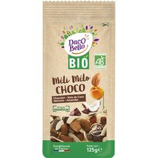Daco bello Méli-mélo bio de chocolats, abricots, coco et amandes 125g