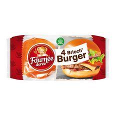 La Fournée Dorée brioche burger x4 -250g