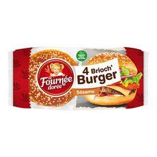 La Fournée Dorée brioche burger sésame x4 -250g