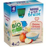Nestlé bio ptit brassé 4x90g dès6mois