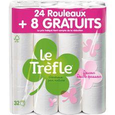 LE TREFLE Le Trefle Papier toilette maxi feuille douceur 24 + 8 offerts 32 rouleaux