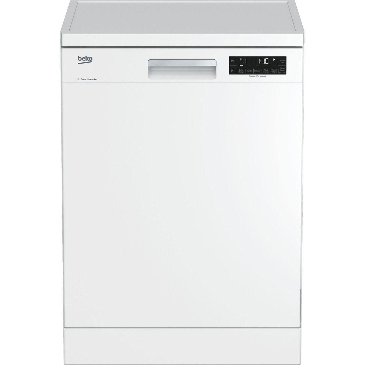 Lave-vaisselle pose libre DFN1420W, 14 couverts, 60 cm, 44 dB, 8 programmes