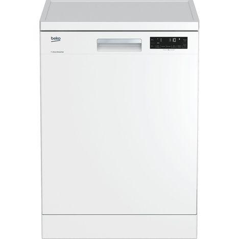 BEKO Lave-vaisselle pose libre DFN1420W, 14 couverts, 60 cm, 44 dB, 8 programmes