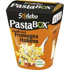 Sodebo Pastabox fusilli fromage italien 300g