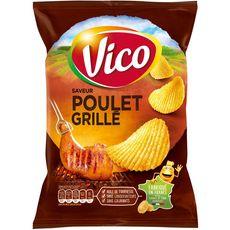 VICO Chips ondulées saveur poulet grillé 120g