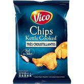 Vico Vico Chips kettle cooked très croustillantes au sel de mer 120g