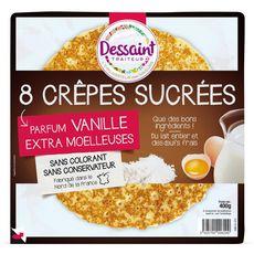 Dessaint crêpes sucrées parfum vanille x8 -400g