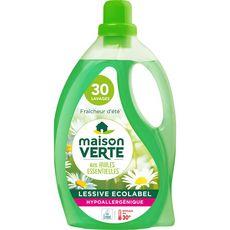 MAISON VERTE Lessive liquide fraîcheur d'été 30 lavages 1,8l