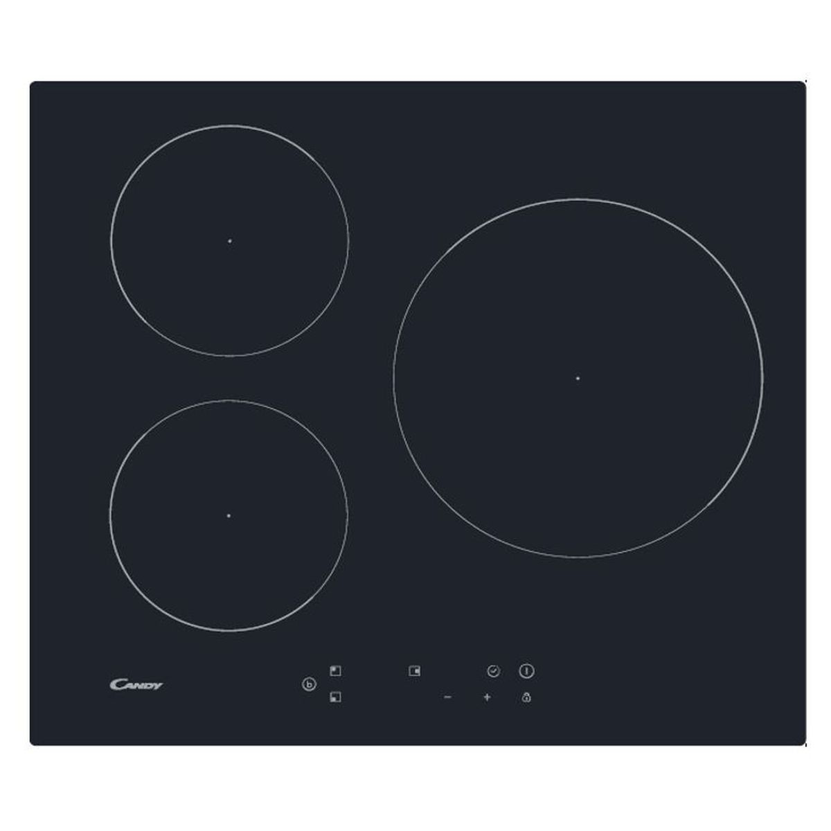 Table de cuisson à induction CI633SCTT, 60 cm, 3 Foyers