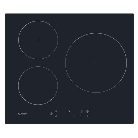 CANDY Table de cuisson à induction CI633SCTT, 60 cm, 3 Foyers