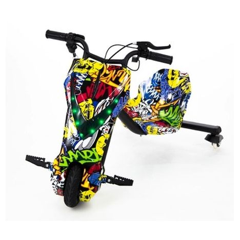 MOOVWAY Tricycle électrique enfant Drifting Go Kart - Graffitti