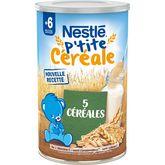 Nestlé Nestlé P'tite céréale aux 5 céréales en poudre dès 6 mois 400g