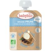 Babybio Babybio Gourde dessert brassé prune lait de brebis dès 6 mois 85g