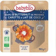 Babybio Babybio Bol soupe butternut carotte lait de coco dès 6 mois 190g