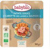 Babybio Babybio Assiette patate douce carotte saumon dès 6 mois 190g