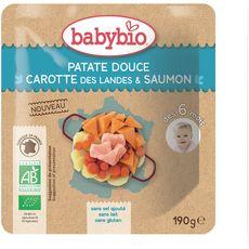 Babybio Assiette patate douce carotte saumon  dès 6 mois 190g