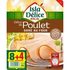 Isla Délice Délice de poulet 8 tranches + 4 offertes 360g
