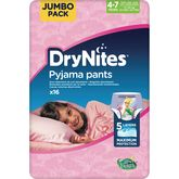 Huggies Drynites fille 4-7 ans x16 culottes pipi au lit